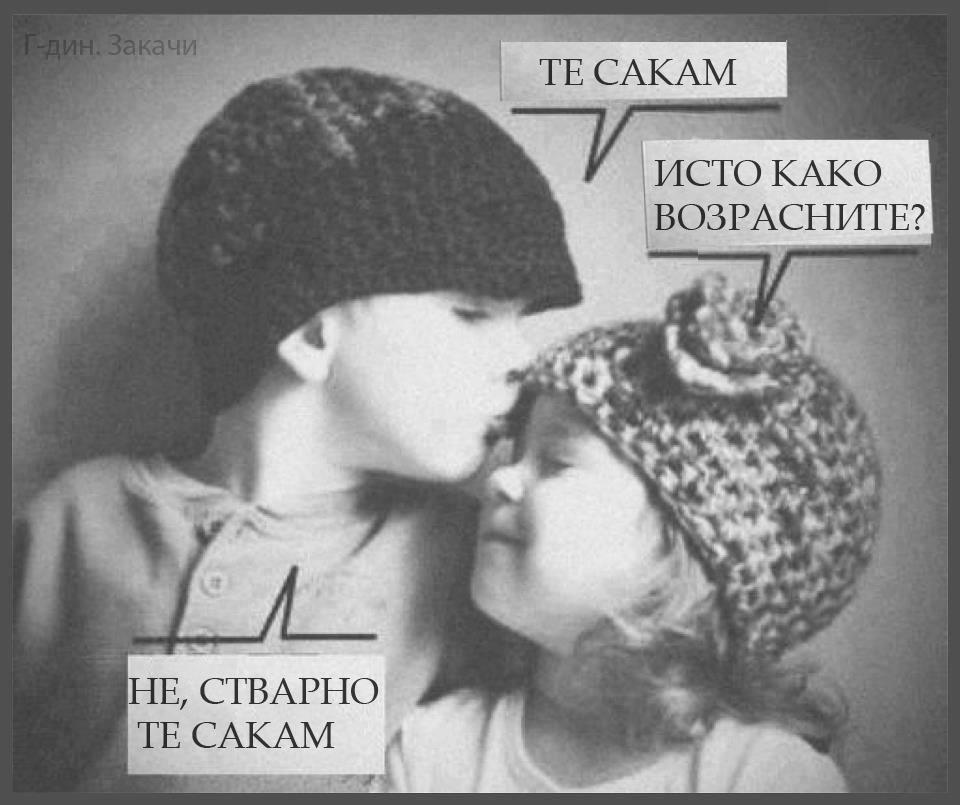 стварно те сакам