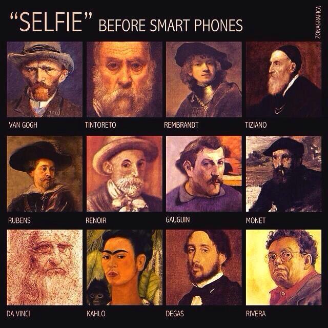 The original selfies ...