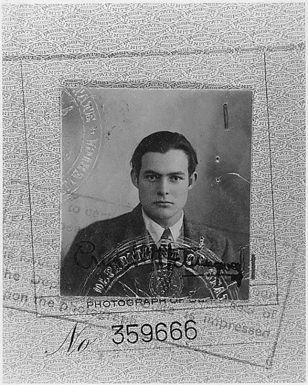 Ernest Hemingway s passport photo - 1923