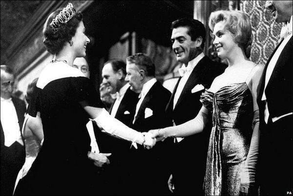 Marilyn Monroe meets Queen Elizabeth II - 1956