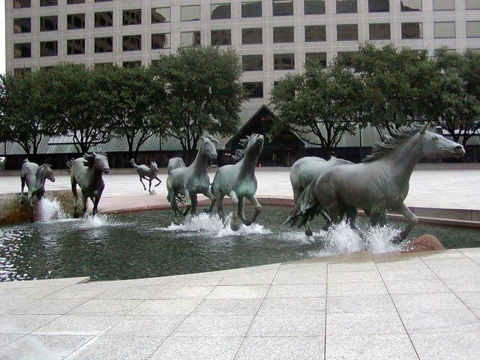 #1 Running Horses By Robert Glen (las Colinas, Irving, Texas)