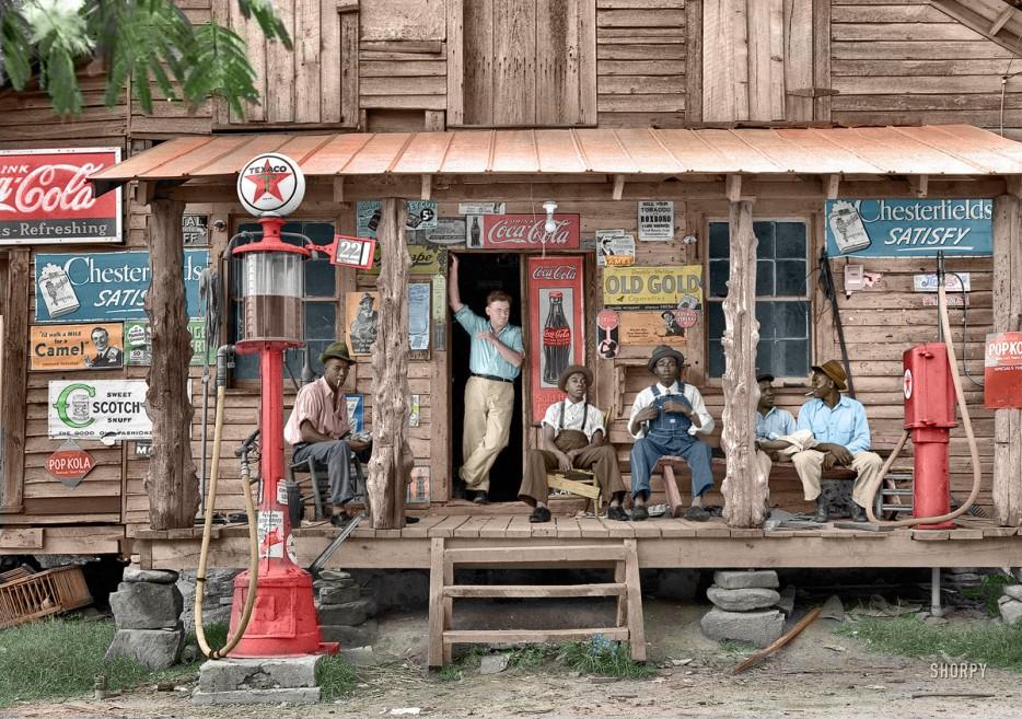 Country store in July 1939. Gordonton, North Carolina