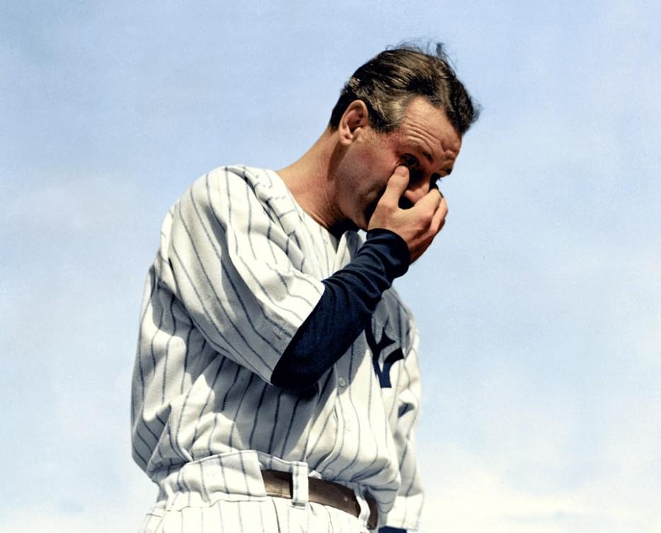 Lou Gehrig, July 4, 1939
