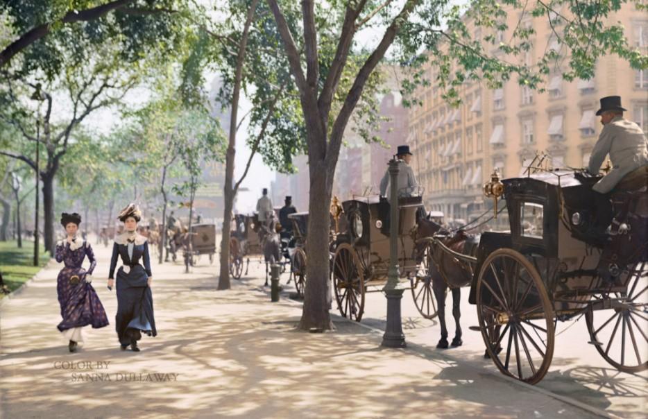 Madison Square Park New York City around 1900