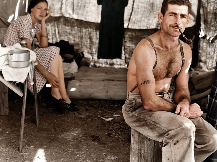 Unemployed Lumber Worker and His Wife 1939