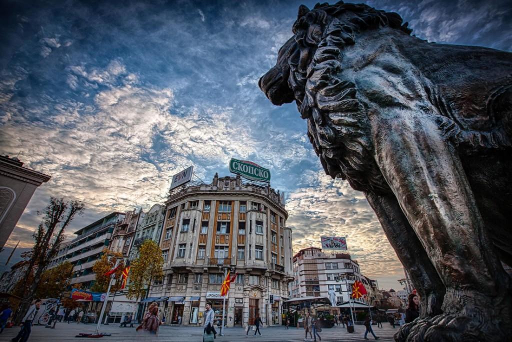 Ian Coles - Macedonia Square, Skopje