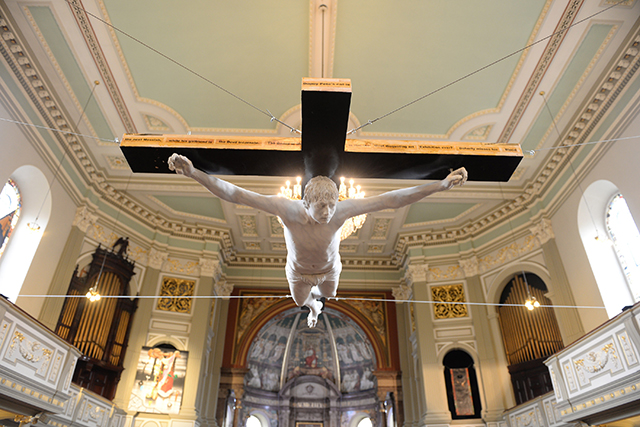 Life-Sized Sculpture Of Pete Doherty Being Crucified Is Unveiled In A Church