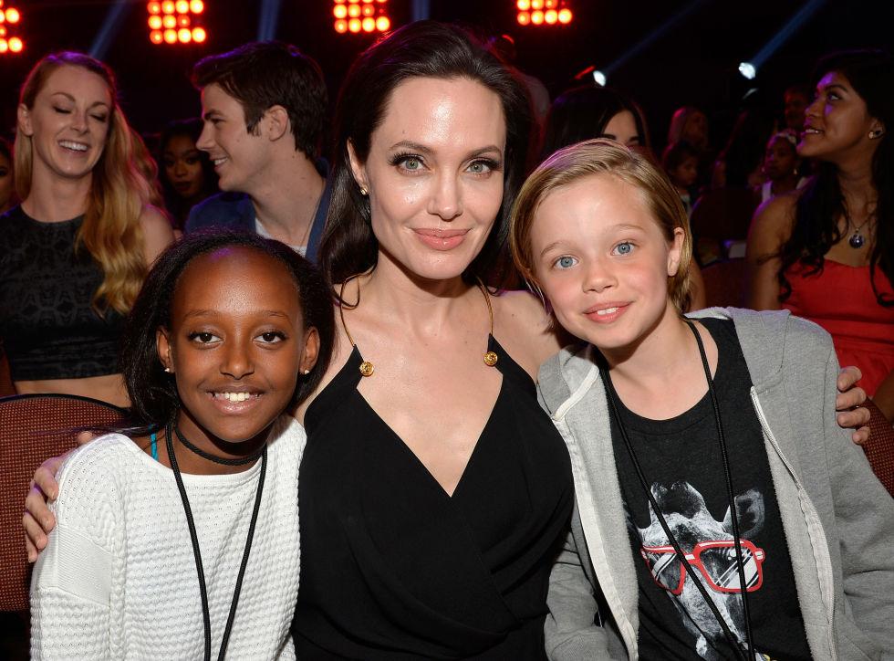 Анџелина Џоли со ќерките Захара и Шилон
