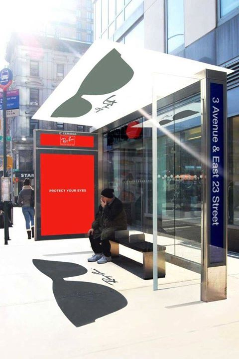 Ray Ban Sunglasses uses the power of the sun to fuel their marketing