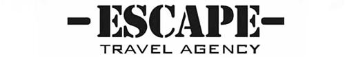 - ESKAPE -  travel agency text banner 500