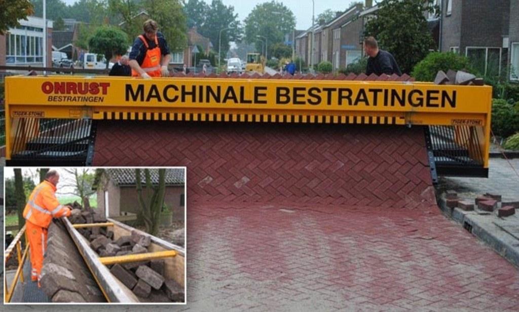Amazing Brick Machine Rolls Out Roads Like Carpetn